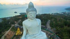 White big Buddha on hilltop of Phuket island Thailand Stock Photo