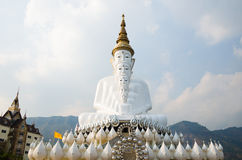 White Big Buddha images with different sizes Royalty Free Stock Photo