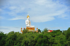White Big Buddha statue in Thailand public Stock Photos