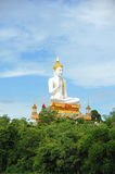 White Big Buddha statue in Thailand public Stock Images