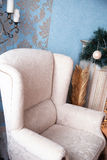 White big classic armchair Stock Images