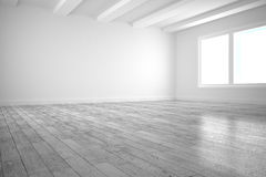 White big room with windows Stock Image