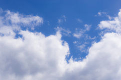 White big transparent clouds Royalty Free Stock Image