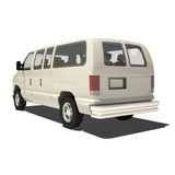 White Big Van Isolated Stock Photography