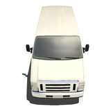 White Big Van Isolated Stock Photo