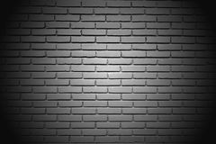 The white big wall by the brick vignette style Stock Photography