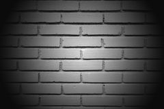 The white big wall by the brick vignette style Stock Image