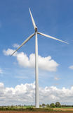 The white and big wind turbine stands at wind farm Thailand. Royalty Free Stock Photo
