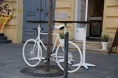 White bike Stock Photography