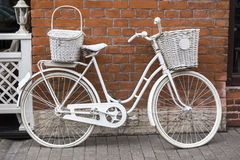 White bike Stock Images