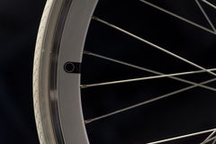 White Bike Wheel Royalty Free Stock Photography
