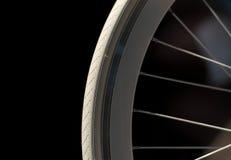 White Bike Wheel Stock Photo