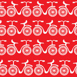 White bikes  seamless pattern Royalty Free Stock Photo