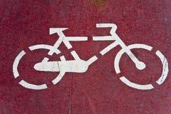 White bikes sign Stock Photos
