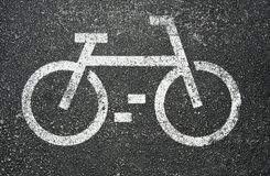White bikes sign Royalty Free Stock Images