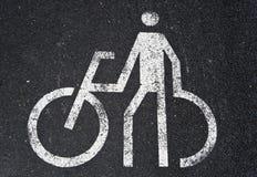 White bikes sign Stock Image