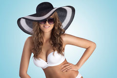 White bikini. Royalty Free Stock Photos