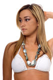 White Bikini Asian Stock Images