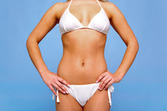 White bikini and suntan Royalty Free Stock Photo