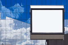 White bill board Royalty Free Stock Photos