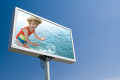White bill board advertisement Royalty Free Stock Images