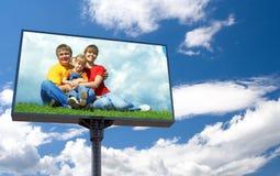 White bill board advertisement stock image