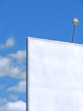 White billboard. Poster panel advertising Royalty Free Stock Photography