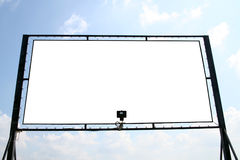 White billboard. Billboard with isolated interior copyscpace for your ad Stock Images