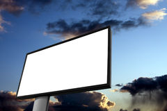 White billboard advertisement Royalty Free Stock Images