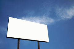 White Billboard against blue sky (XL) Stock Images