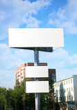 White billboard against the sky Royalty Free Stock Photo