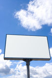White billboard on blue sky Royalty Free Stock Photo