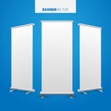 White billboard . Business billboard for advertising, comm Stock Images