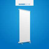 White billboard . Business billboard for advertising, comm Royalty Free Stock Photo