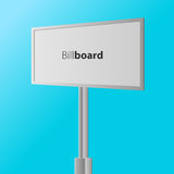 White billboard . Business billboard for advertising, comm Royalty Free Stock Image