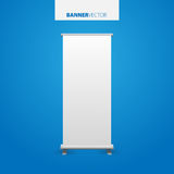White billboard vector. Business billboard for advertising, comm Royalty Free Stock Images