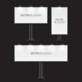 White billboards. Royalty Free Stock Image