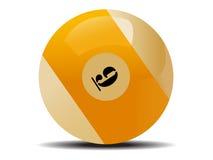 White billiard ball. Over white royalty free illustration