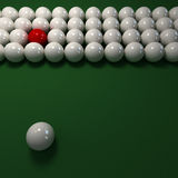 White billiard balls composition Royalty Free Stock Photography