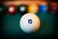 White billiards ball Stock Photo