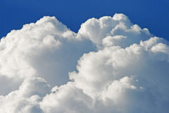 White billowing clouds Stock Photo