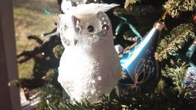 White Bird. For Christmas tree Stock Photos