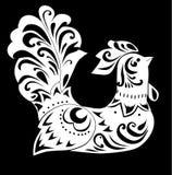 White bird isolated on black royalty free illustration
