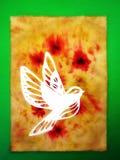 White bird. Paper cutting. Stock Image