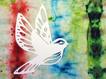 White bird. Paper cutting. Royalty Free Stock Image