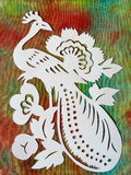 White bird. Paper cutting. Stock Images