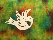 White bird. Paper cutting Royalty Free Stock Photo