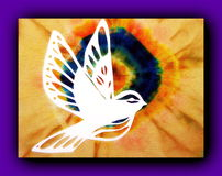 White bird. Paper cutting Royalty Free Stock Photography