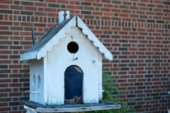 White Birdhouse Royalty Free Stock Image