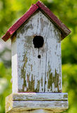 White Birdhouse Royalty Free Stock Photo
